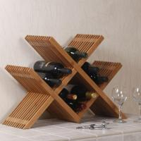 Bamboo Crafts for Red Wine Bottle Storage of Bamboo Rack