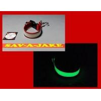 Buy cheap Firefighter Glove Strap - Glow in the Dark AND reflective trim Red Webbing from wholesalers