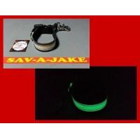 Buy cheap Firefighter Glove Strap - LEATHER Glow in the Dark AND reflective trim - quick release from wholesalers