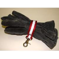 Cheap Firefighter Glove Strap - Red w/3M Silver Reflective - trigger snap Glove Straps for sale