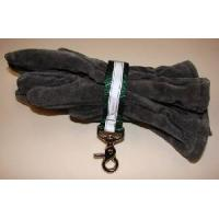Cheap Firefighter Glove Strap - Green w/3M Silver Reflective - trigger snap Glove Straps for sale