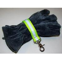 Cheap Firefighter Glove Strap - Yellow w/3M Silver Reflective - trigger snap Glove Straps for sale