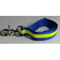Cheap Firefighter Glove Strap - Blue w/3M Yellow Reflective - trigger snap Glove Straps for sale
