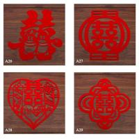 Cheap Laser Cutting 100% Polyester Felt Coaster/placemat/mat for sale