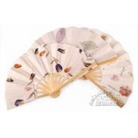 8 Inches Saa Paper Fan w Pressed Flowers or Leaves