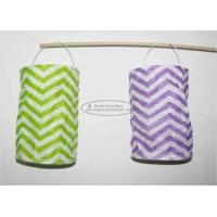 Cheap Spring Backyard Paper Lanterns Craft 10 X 15 Cm Handmade With Wave Pattern for sale