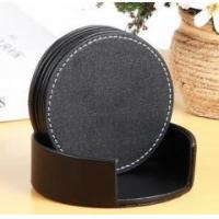 Wholesale Cheaper Leather Coaster/Cup &Glass Coaster with holder