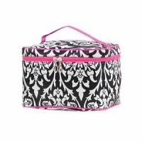 Cheap Monogrammed Damask Print Cosmetic Case for sale