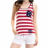 Cheap Monogrammed Patriotic Tank Top for sale