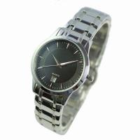 Buy cheap Classic Black Dial Stainless Steel Watch from wholesalers