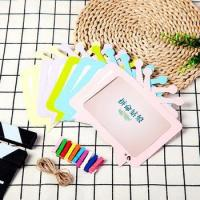3-6inch Paper Photo Frame wall picture Album DIY hanging Rope Frame