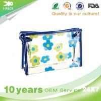 I-pack Customized Super Clear PVC Cosmetic Bag With Zipper