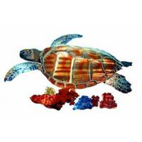 China Tropical Sea Turtle Metal Wall Art Sculpture on sale