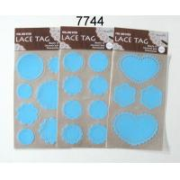 Cheap 6 DESIGNS LACE TAG STICKER for sale