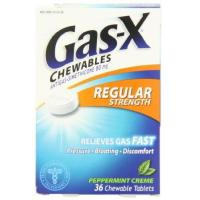 Antacids Gas-X Anti-Gas Chewable Tablets, Peppermint Creme, 36 Count Box