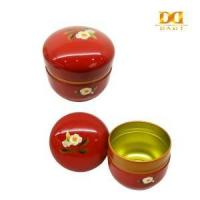 Cheap China tin can factory Red Oval Earings Storage Tin Box, Chinese Style Tin Box, Gift Tin Box for sale
