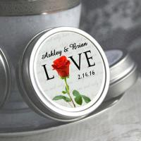 Personalized Love Red Rose Mint Tins