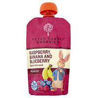 Baby Peter Rabbit Organics Raspberry, Banana and Blueberry, 4.0-Ounce Pouches (Pack of 10)