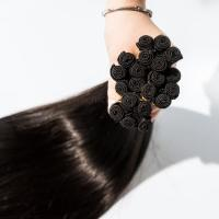 Cheap Lace closure Remy russian skin weft hand tied hair extensions in Dubai for sale
