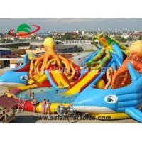 Cheap Character Octopus and Sea Turtle Both Slide Inflatable Pool Water Park for sale