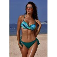 Cheap Green Printed Top Self-tie Panty Swimwear #LC411053-9 for sale