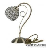 Cheap light series Table lamp,E27,crystal ball shade+antique brass,L24H35CM---56633-T1-AB for sale
