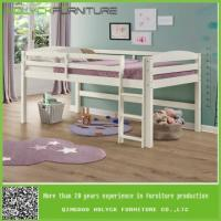 China white wooden bunk beds with only top bunk on sale
