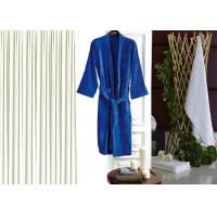 Cheap Colored Luxury Hotel Patterned Toweling Bath Robe , Womens Luxury Dressing Gown for sale