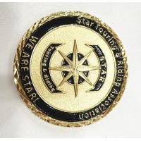 Cheap Brass Gold Customize Challenge Coins Souvenirs With Diamond Cut Edge for sale