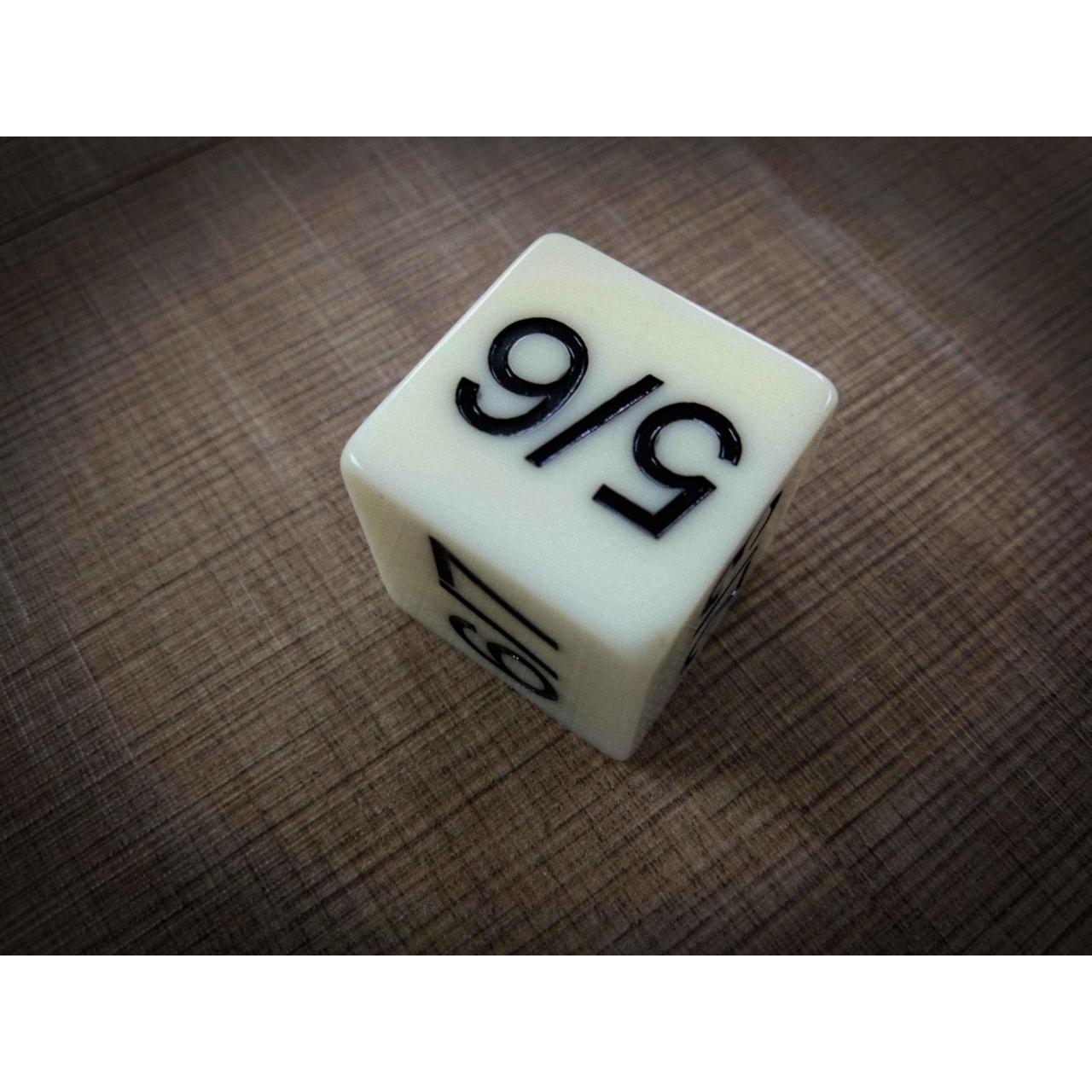 Buy cheap Polyhedral Dice WHITE PLASTIC D6 DICE from wholesalers