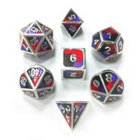 Buy cheap Polyhedral Dice 3 Colors Mixed Enamel Metal Dice from wholesalers